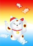 Новый Год японца кота Стоковые Фото