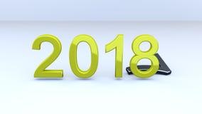 Новый Год 2018 стоковое фото