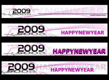Новый Год 2009 знамени иллюстрация вектора
