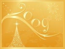 Новый Год 2009 рождества счастливое веселое иллюстрация штока