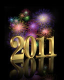 Новый Год 2011 феиэрверка Стоковая Фотография RF