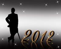 Новый Год 2012 приглашения Стоковые Изображения