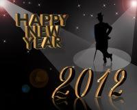 Новый Год 2012 приглашения Стоковое Изображение RF