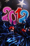 Новый Год 2012 bauble Стоковые Фото
