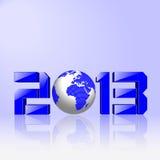 Новый Год 2013 принципиальной схемы Стоковое Изображение