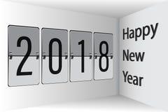 Новый Год 2018 3D доски сальто счастливый Стоковое фото RF