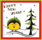 Новый Год hedgehog Стоковая Фотография
