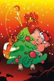 новый год piggi Стоковые Фото