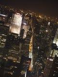 новый горизонт york ночи Стоковое Изображение