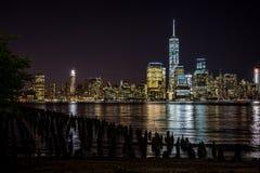 новый горизонт york ночи Стоковые Изображения RF