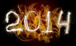 Новый Год 2014 даты стоковое изображение