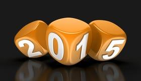 Новый Год 2015 (включенный путь клиппирования) Стоковые Изображения RF