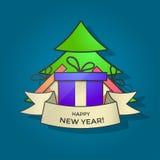 Новый Год знамени счастливое Стоковые Фото