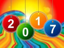 Новый Год значит 2 Thosand 17 и празднует Стоковые Фотографии RF