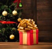 Новый Год и подарок на рождество или подарок Стоковое Изображение
