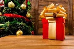 Новый Год и подарок на рождество или подарок Стоковая Фотография RF