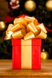 Новый Год и подарок на рождество или подарок Стоковое Фото