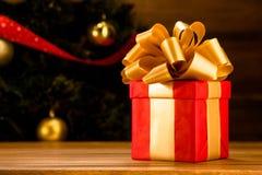 Новый Год и подарок на рождество или подарок Стоковое Изображение RF