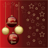 Новый Год и рождество праздника торжества иллюстрация вектора