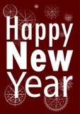 Новый Год карточки счастливое также вектор иллюстрации притяжки corel Стоковые Изображения