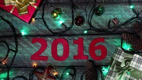 Новый Год календара видеоматериал