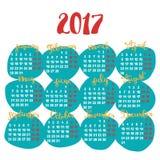 Новый Год - календарные месяцы Стоковые Фото