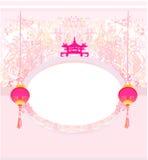 Новый Год китайца карточки Стоковое фото RF