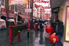 Новый Год китайца Лондона стоковое фото rf