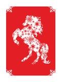 Новый Год 2014 китайцев лошади Стоковое Фото