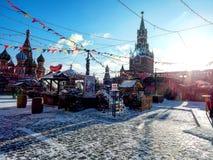 Новый Год на красной площади Стоковые Фото