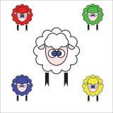 Новый Год овечки бесплатная иллюстрация