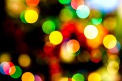 Новый Год освещает взгляд bokeh Стоковое Изображение