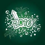Новый Год открытки счастливый и с Рождеством Христовым 2016 Стоковое Фото