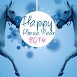 Новый год 2014 лошади Стоковые Фото