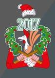 Новый Год петуха Стоковая Фотография RF
