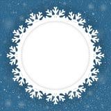 Новый Год предпосылки круга голубой снежок Снежинка Стоковые Изображения