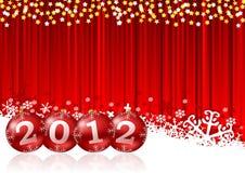 Новый Год приветствию карточки Стоковые Фото