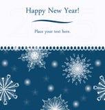 Новый Год приветствию карточки Стоковое фото RF