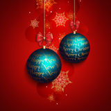 Новый Год приветствию рождества карточки Стоковые Изображения RF