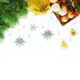 Новый Год приветствию рождества карточки Стоковая Фотография