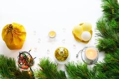 Новый Год приветствию рождества карточки Стоковая Фотография RF