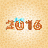 Новый Год приветствию рождества карточки gingerbread Стоковое Фото