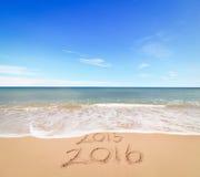Новый Год 2016 приходит стоковая фотография
