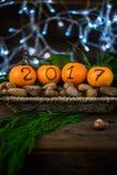 Новый Год 2017 приходя концепция стоковая фотография