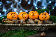 Новый Год 2018 приходя концепция стоковые изображения rf