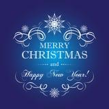 Новый Год рождества веселое Стоковое фото RF