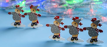 Новый Год рождества Декоративные figurines оленей Стоковые Изображения
