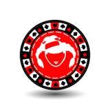 Новый Год рождества обломока покера Иллюстрация EPS 10 значка на белой предпосылке, который нужно отделить легко Польза для вебса Стоковая Фотография