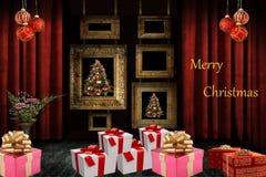 Новый Год рождества счастливое веселое Стоковые Фото