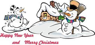 Новый Год рождества счастливое веселое иллюстрация штока